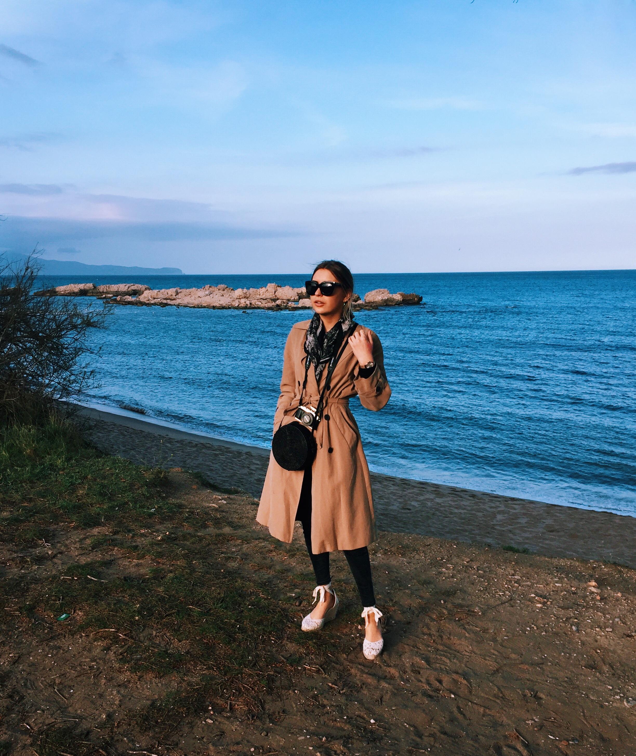 Zara beige trench coat summer