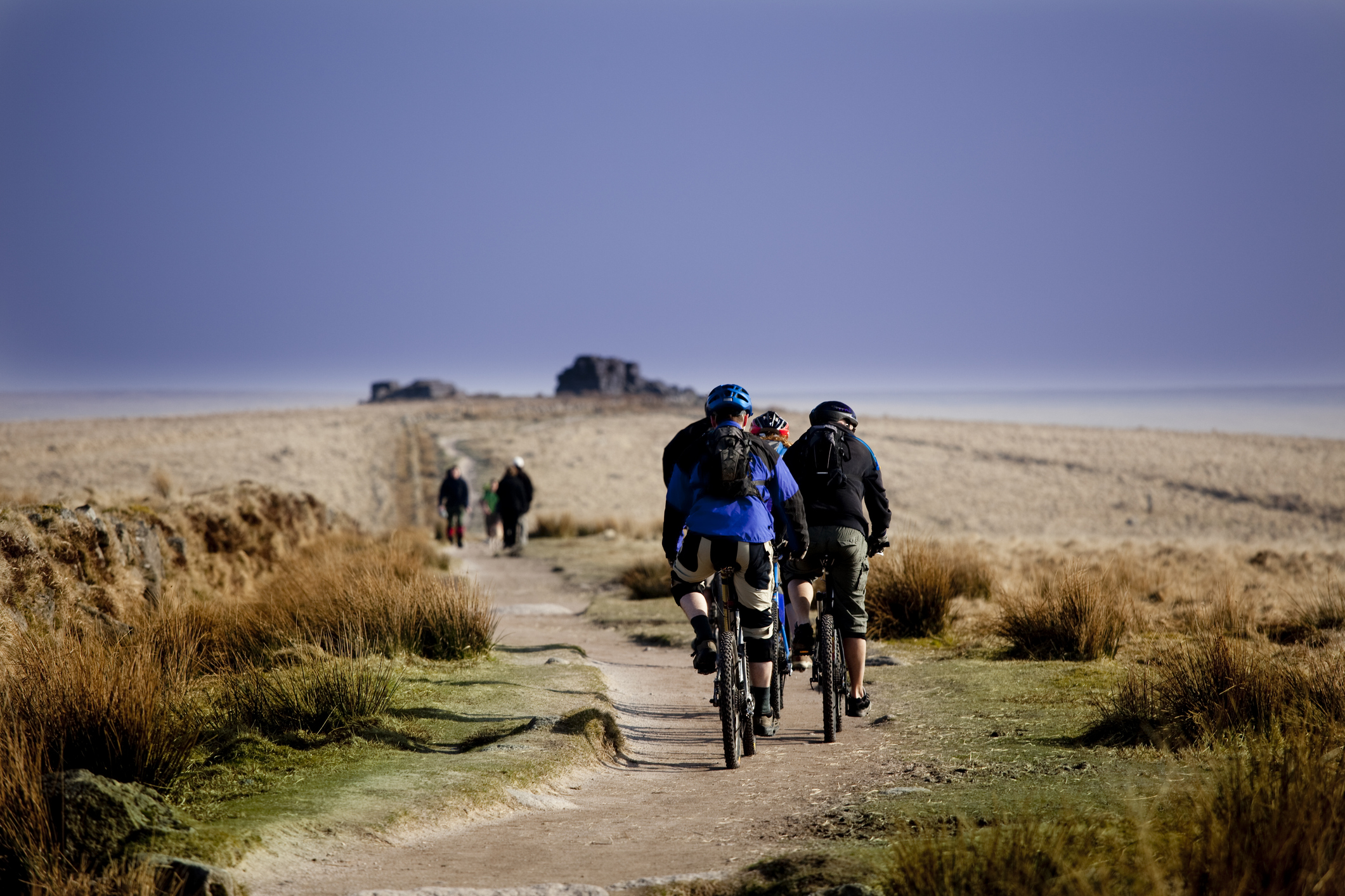 Walking and cycling across the moors
