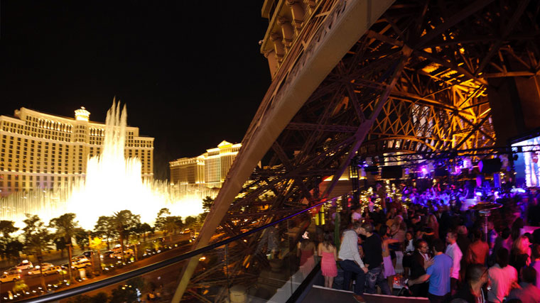 Chateau Nightclub bottle service view from the inside the club. VIP entry and Bottle service by unlock las vegas.