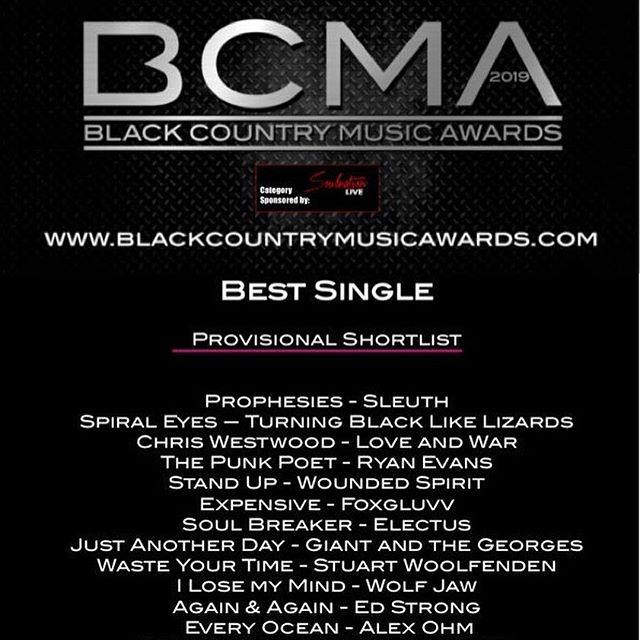 Tomorrow night is BCMA's (Black Country Music Awards) we have been nominated for 'Best Single' 🤘🏽🤘🏽- • • • #bcma #blackcountrymusicawards2019 #blackcountrymusicaward #musicaward #nominee #music #award #indie #indiemusic #alternative #alternativemusic #pop #popmusic #band #vocals #guitar #bass #drums #demo #westmidlands #unitedkingdom🇬🇧 #unitedkingdom #england #england🇬🇧 #drummer #drum