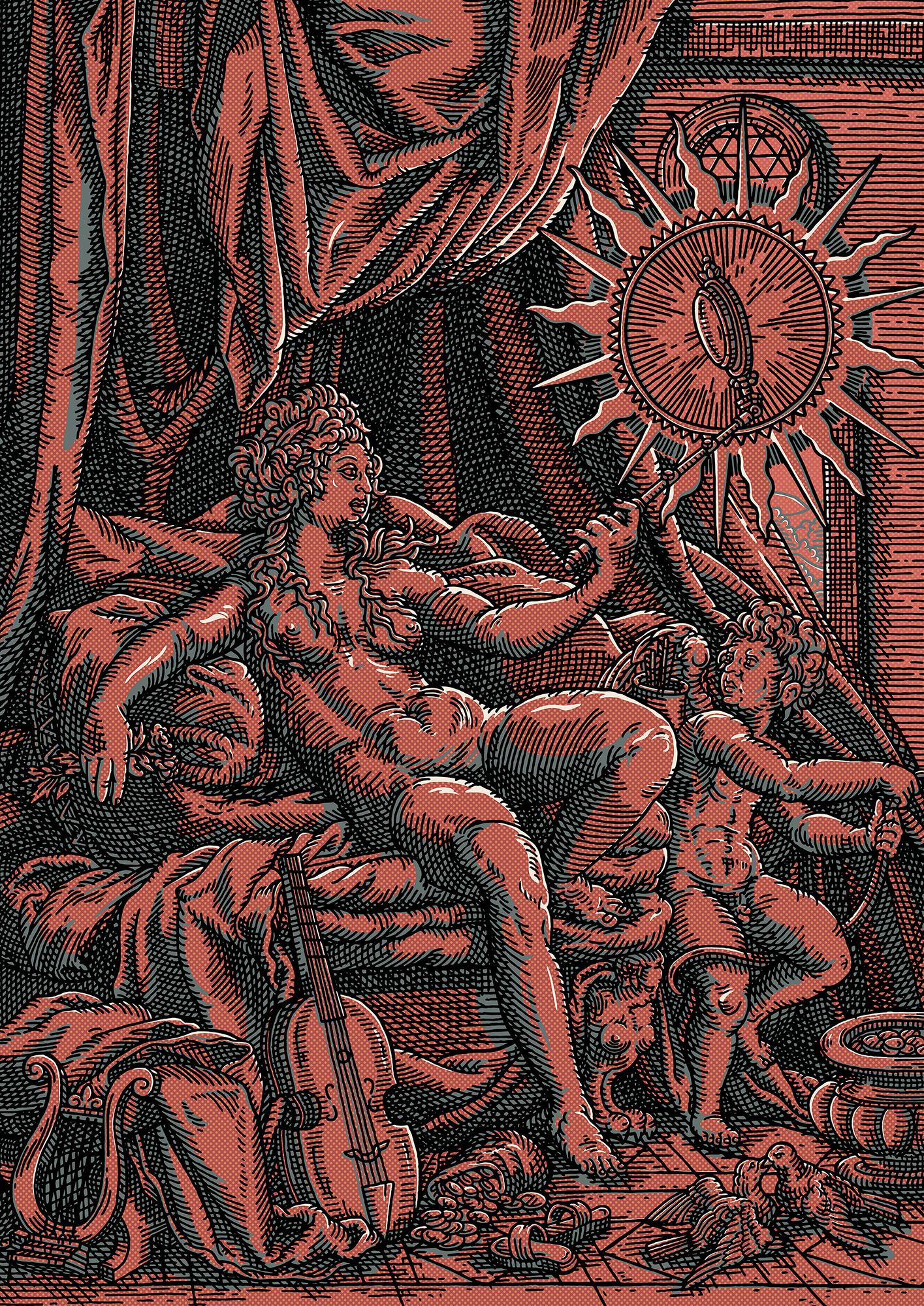 Venus et L'amour in Red