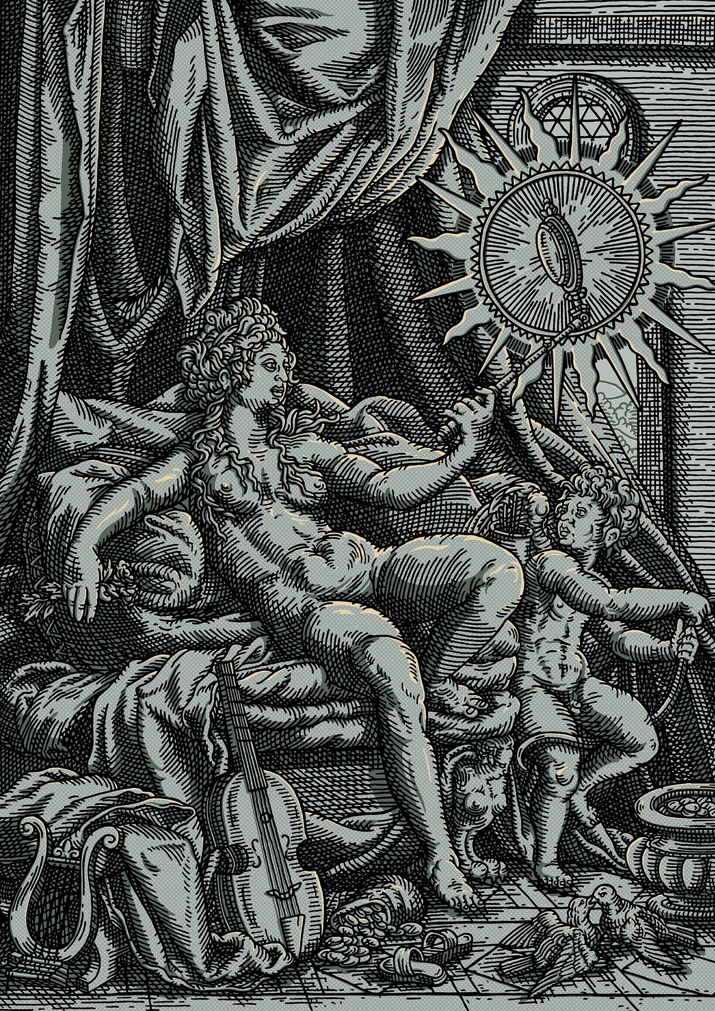 Venus et L'amour in Silver