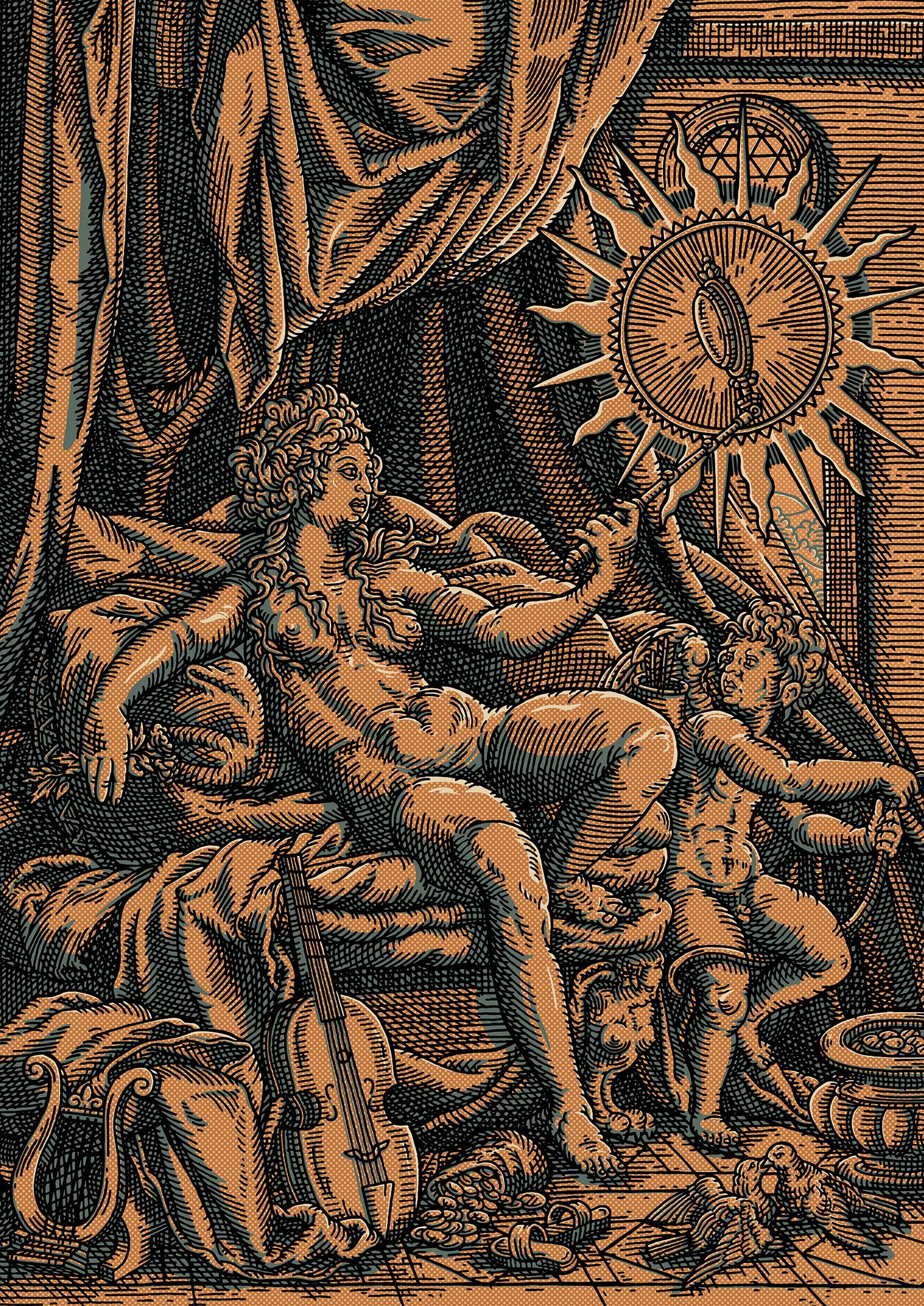 Venus et L'amour in Bronze