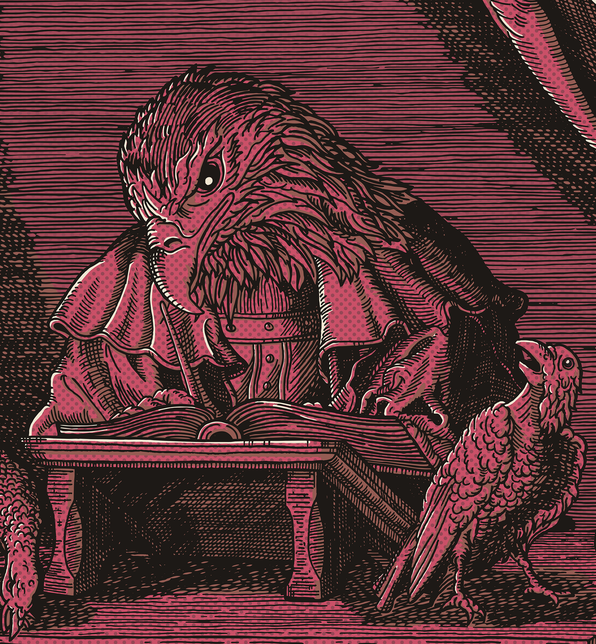 Blood Red Birdman (detail)