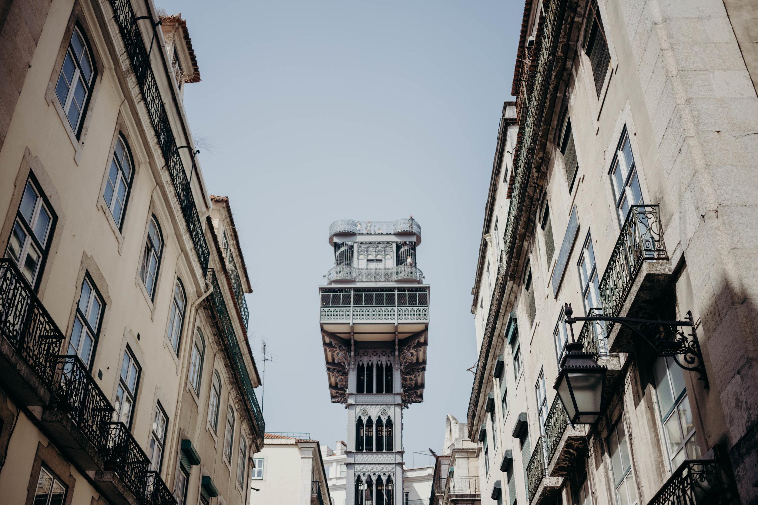 Our Portugal Travel Diary: Lisbon, Porto, and More | On the Street Where We Live (aretherelilactrees.com)  Santa Justa Lift, Praca do Comercio, Rua Augusta Arch