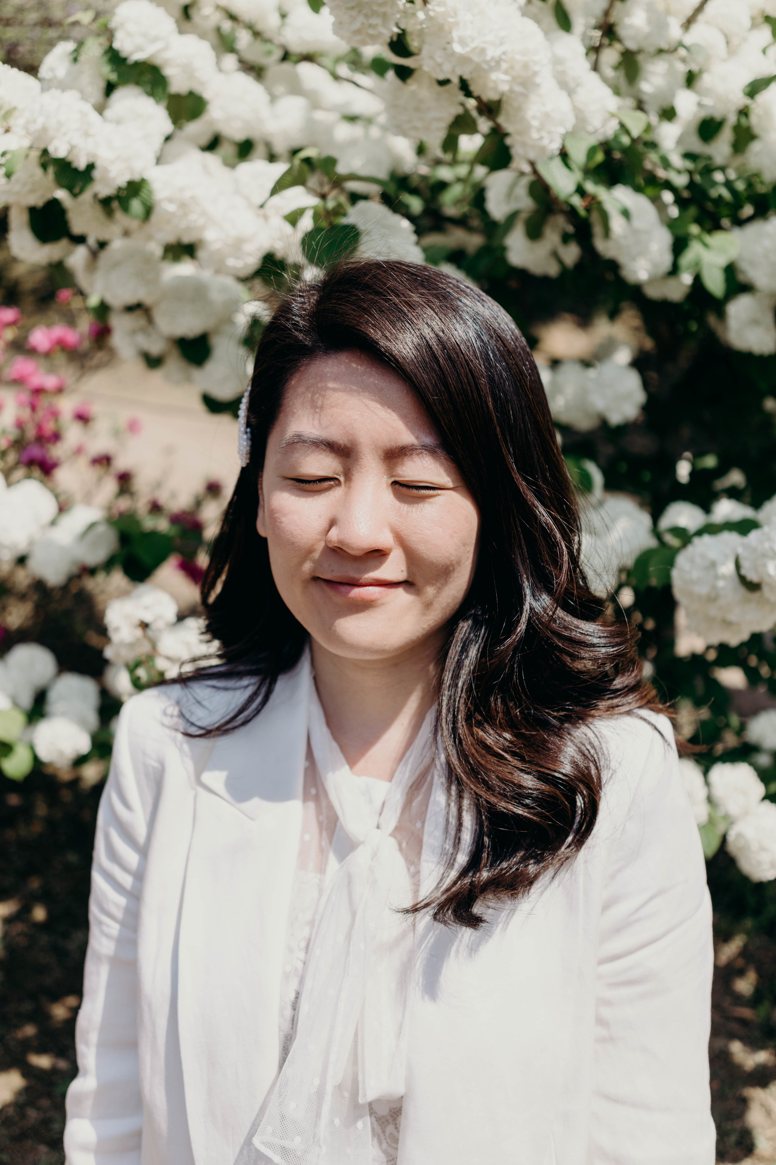 Bucket List Travels | On the Street Where We Live ( aretherelilactrees.com )  Kawachi Fuji Garden, Kitakyushu, Japan, Asia, wisteria, wisteria garden, wisteria tunnel, white blazer