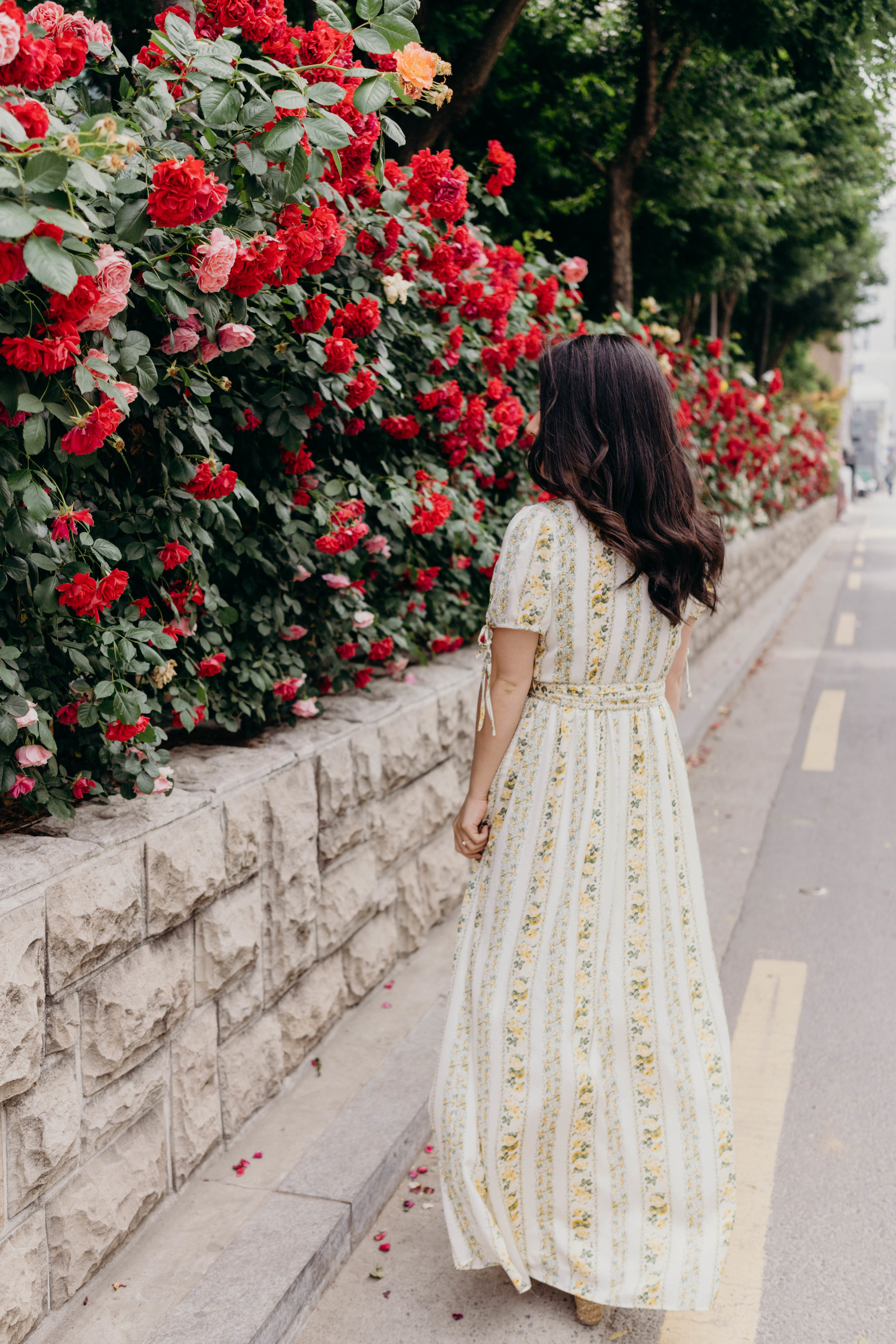 The Unexpectedly Sexy Maxi Dress | On the Street Where We Live ( aretherelilactrees.com )  summer, dresses, maxi dress, yellow, Gal Meets Glam Collection, Imogene