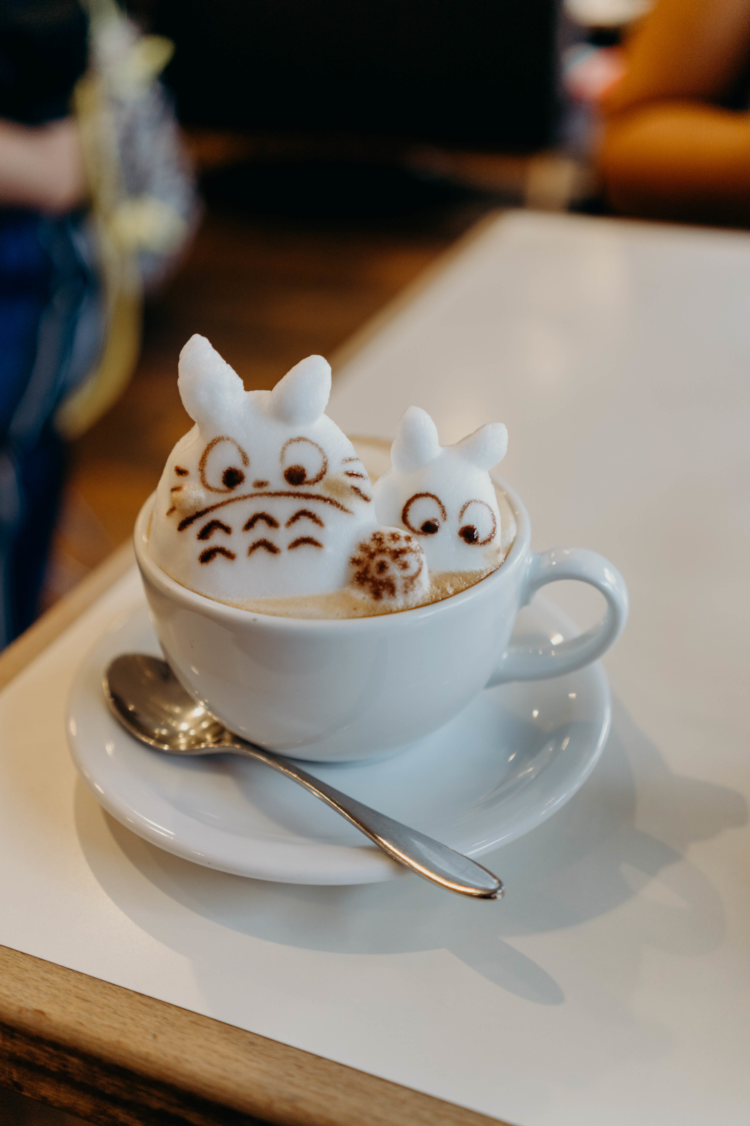A Three-Day Girls' Trip to Tokyo | On the Street Where We Live ( aretherelilactrees.com )  Reissue, cafe, 3D latte art, My Neighbor Totoro, Totoro latte art, Tokyo, Japan