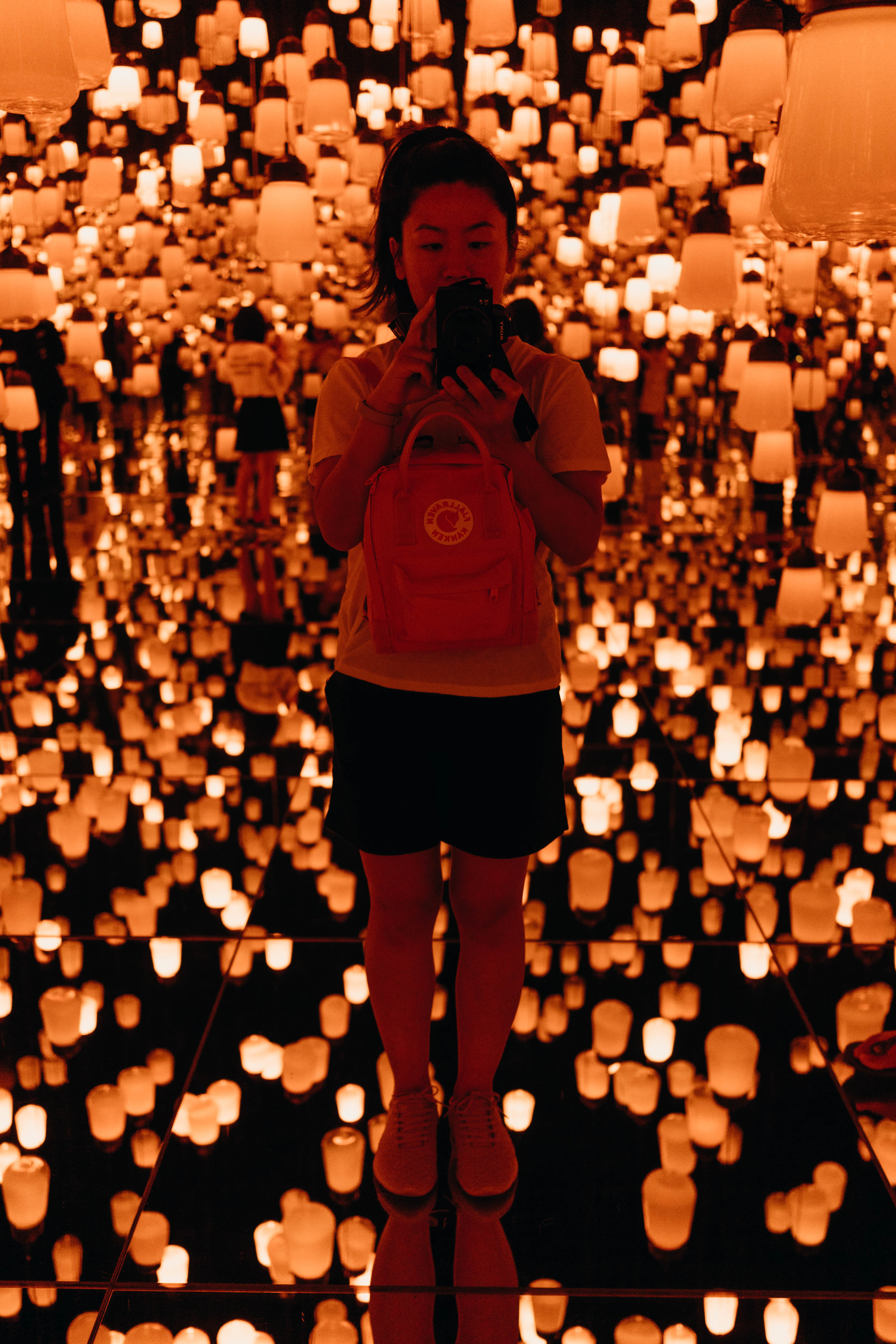 A Three-Day Girls' Trip to Tokyo | On the Street Where We Live ( aretherelilactrees.com )  teamLab Borderless, museum, Forest of Lamps, Forest of Resonating Lamps, lanterns, Tokyo, Japan