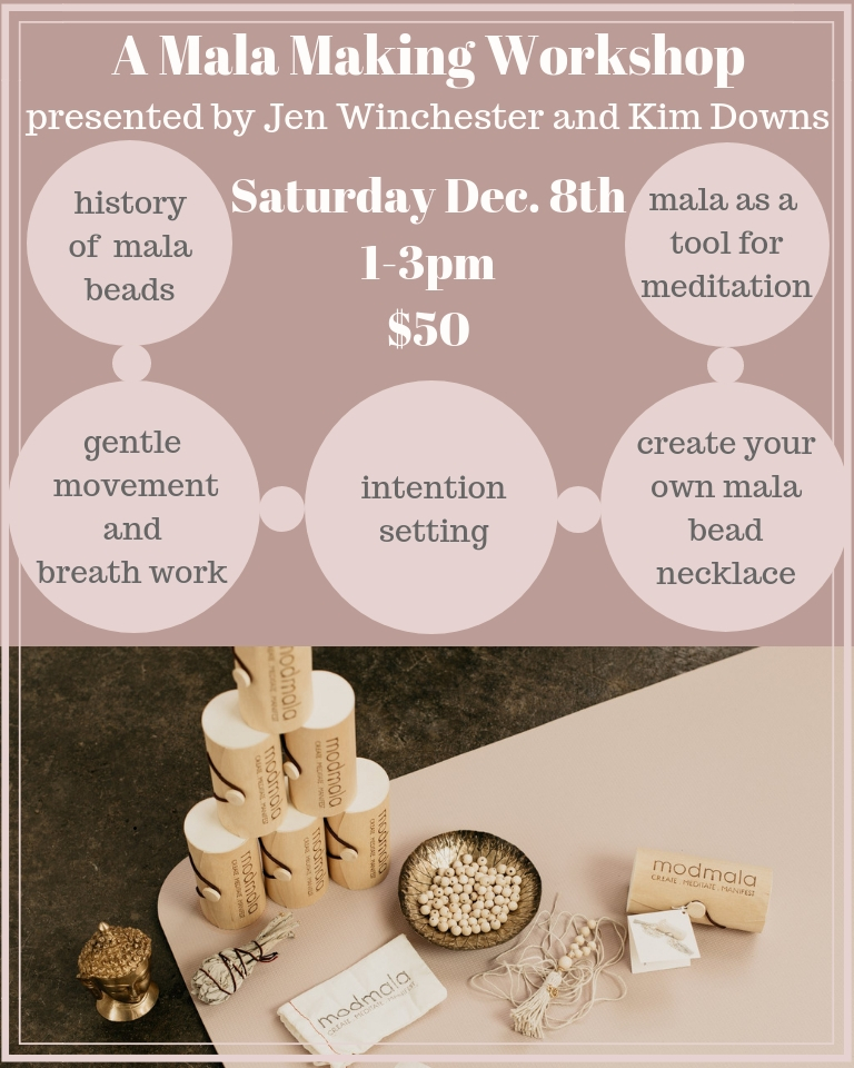 Join Jen Winchester and Kim Downs for Mala Making