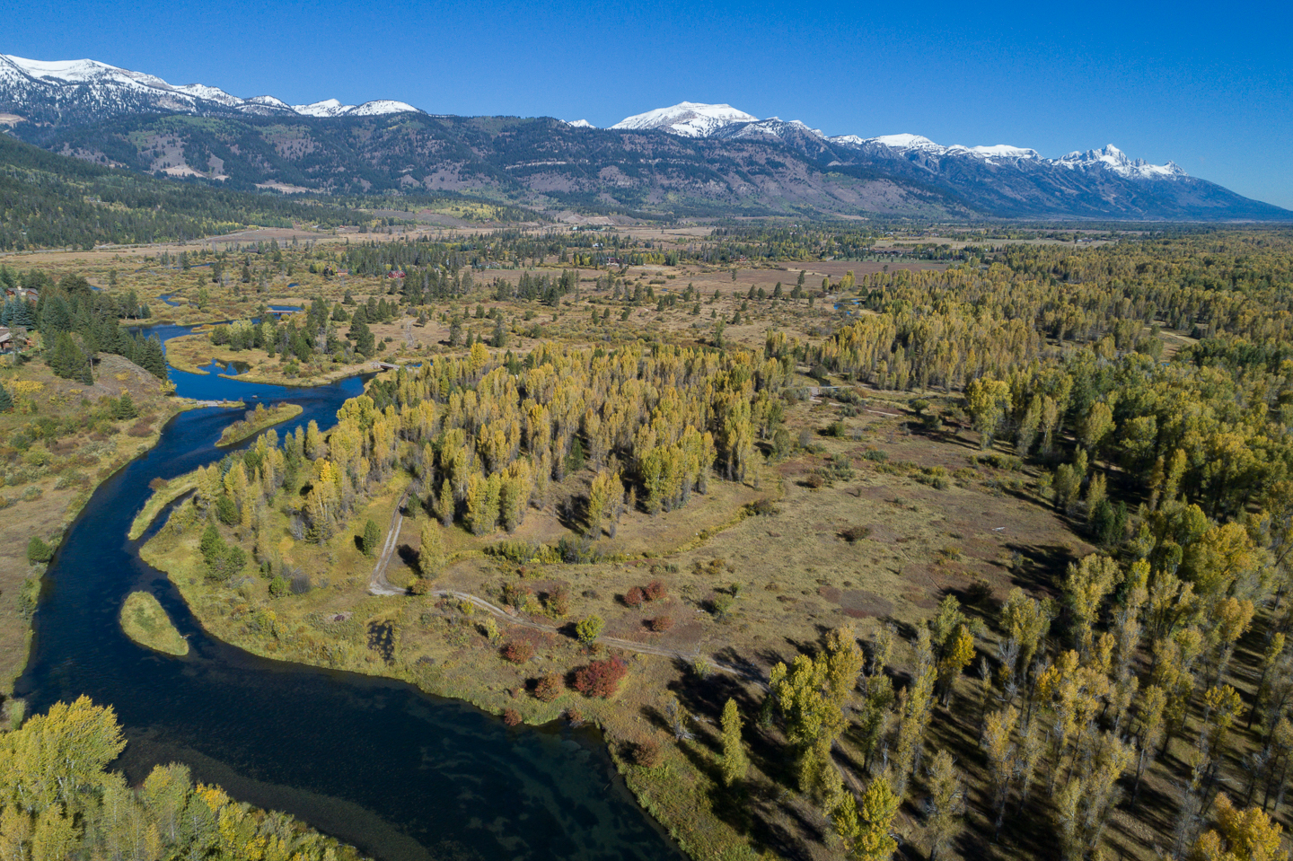 15 Fall Day Drone Looking NW of Fish Creek, Lot + Mountains.jpg