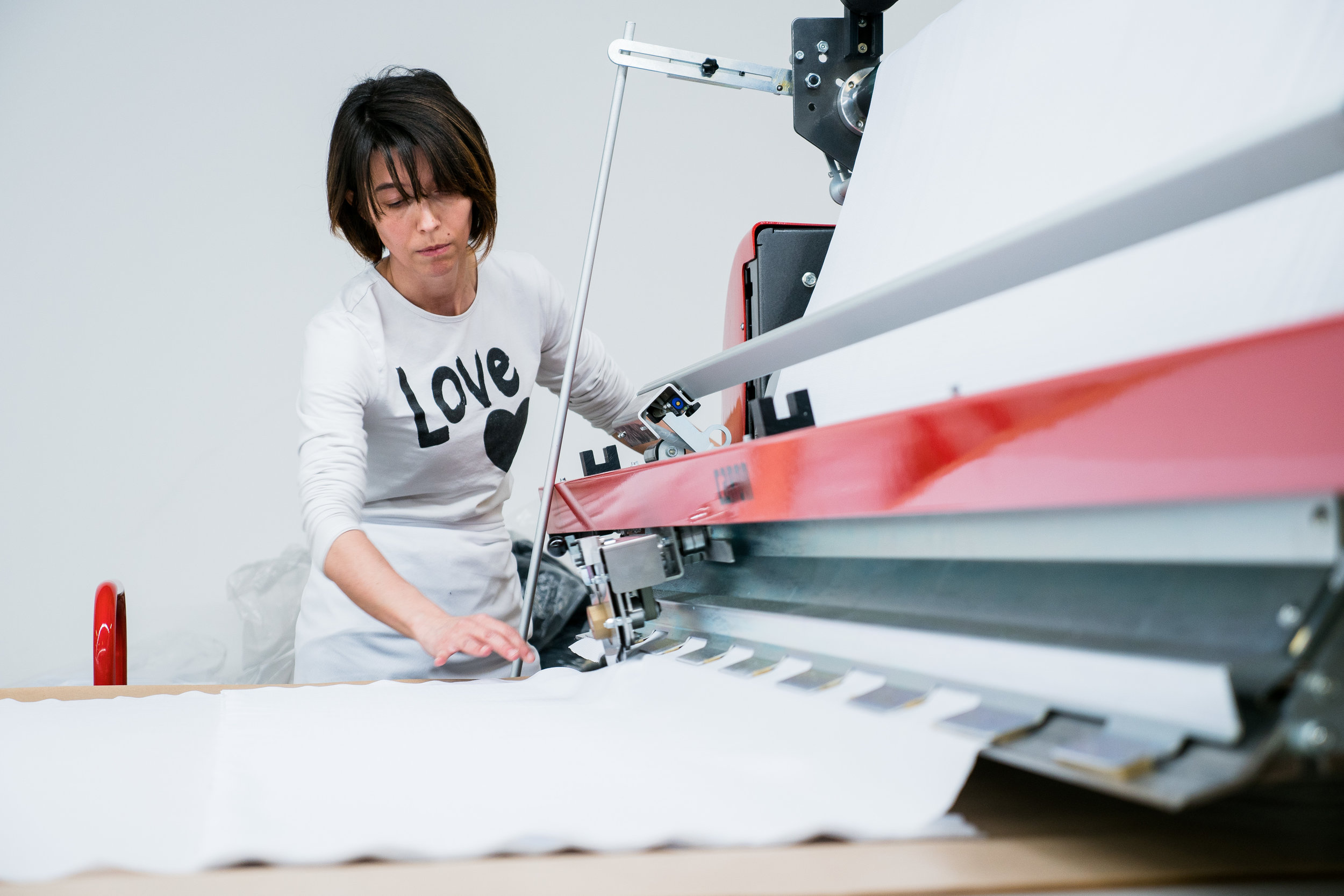 Production - Cut, print, and sew. All from our factory in Italy.Each garment is handmade to order, with the utmost care and attention to detail.Production time runs approximately 8 weeks.