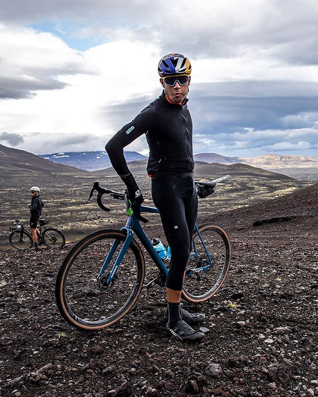 """A majestic passage through primordial extra-terrestrial landscapes. Breathtaking highs and a level of pure suffering that I will not soon forget."" @colinatx . Over 4,000 miles away and still on top, Colin takes the W at the first ever @therifticeland race. An epic 200 km gravel race through the dark lava fields in the highlands of Iceland 🇮🇸. The suffering was real, but the views made it all worth it. . 📸: @snorrithorphotography . #MeteorxGiordana #giordanacycling #madeinitaly #therifticeland #gravelbike #allied #roka #giordana #cycling #cyclingapparel #cyclingclothing #iceland"