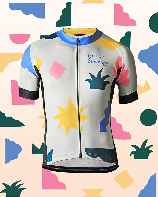 Colorful, playful, and faaaaast! The @meteorxgiordana x @willbryantplz jerseys have arrived 🎉 Our exclusive collaboration with Austin artist Will Bryant features a hand-picked and curated design by @colinatx 🏜 This flatland, yuca and sun inspired jersey is available in team replica FR-C Pro and a more relaxed fitting Vero Pro style. Pair with team favorite FR-C Pro bibs and a colorful solid sock for the perfect summer kit. .  #giordanacycling #madeinitaly . 📷 2/4 @lnphotos . #meteorXgiordana #willbryant #giordana #cycling #cyclingkit #kitdoping #cyclingstyle #cyclinglife #cyclingkit #kitfit #cyclingpics #cyclingphotos
