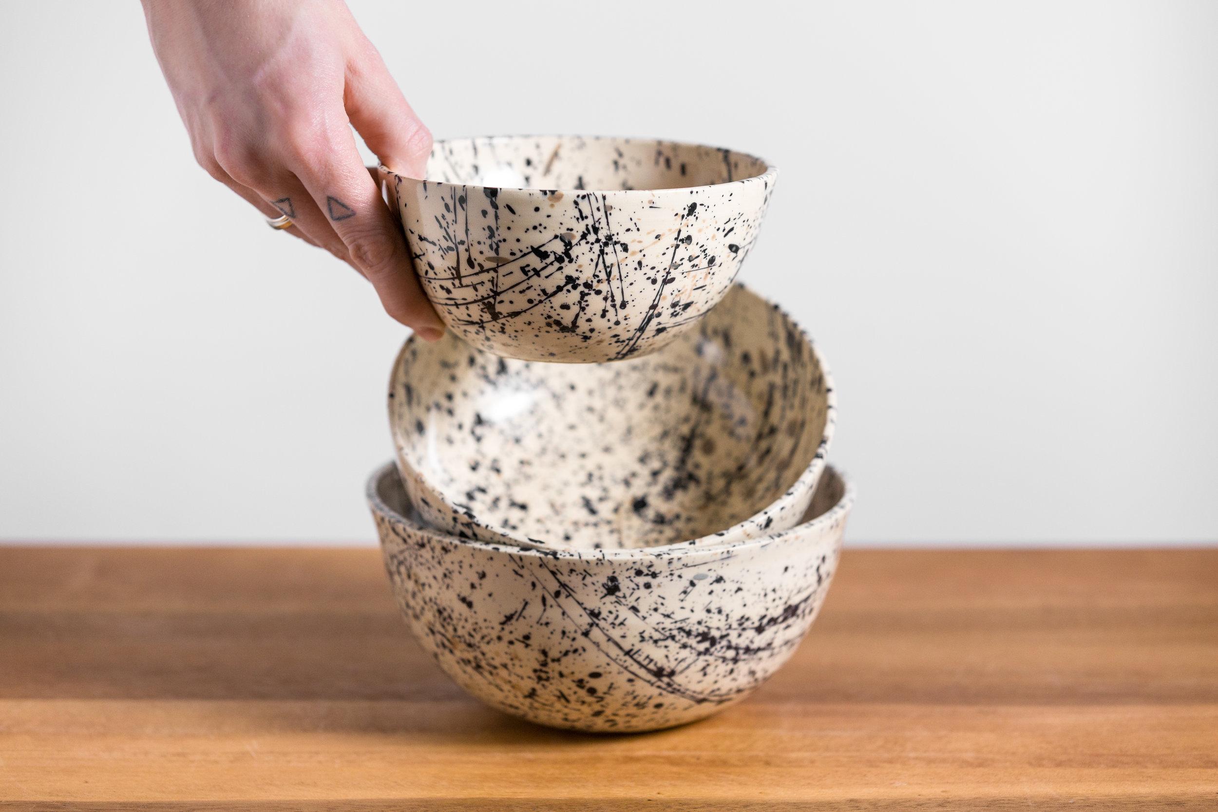Splatter Bowls - Retail $35-$50