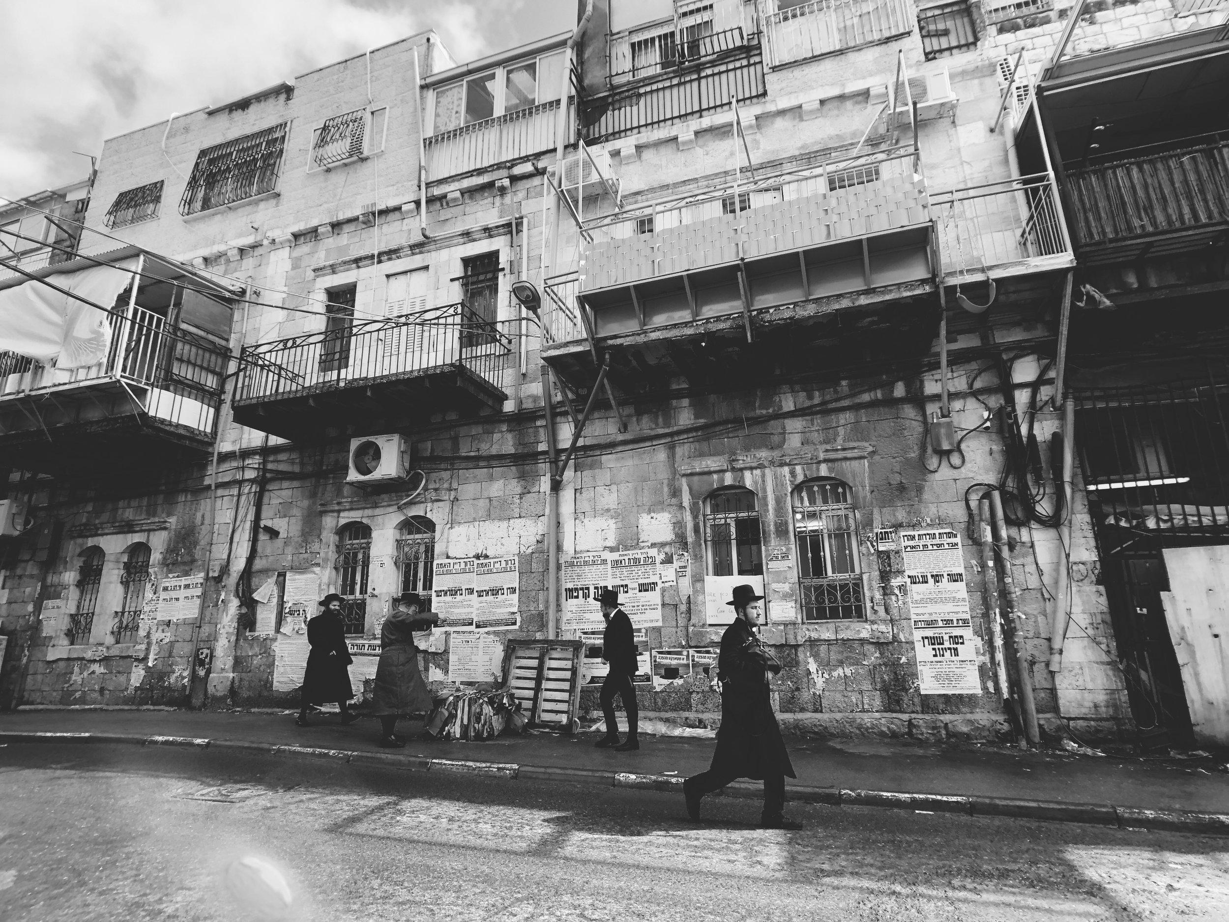 Orthodox Neighborhood in Jerusalem