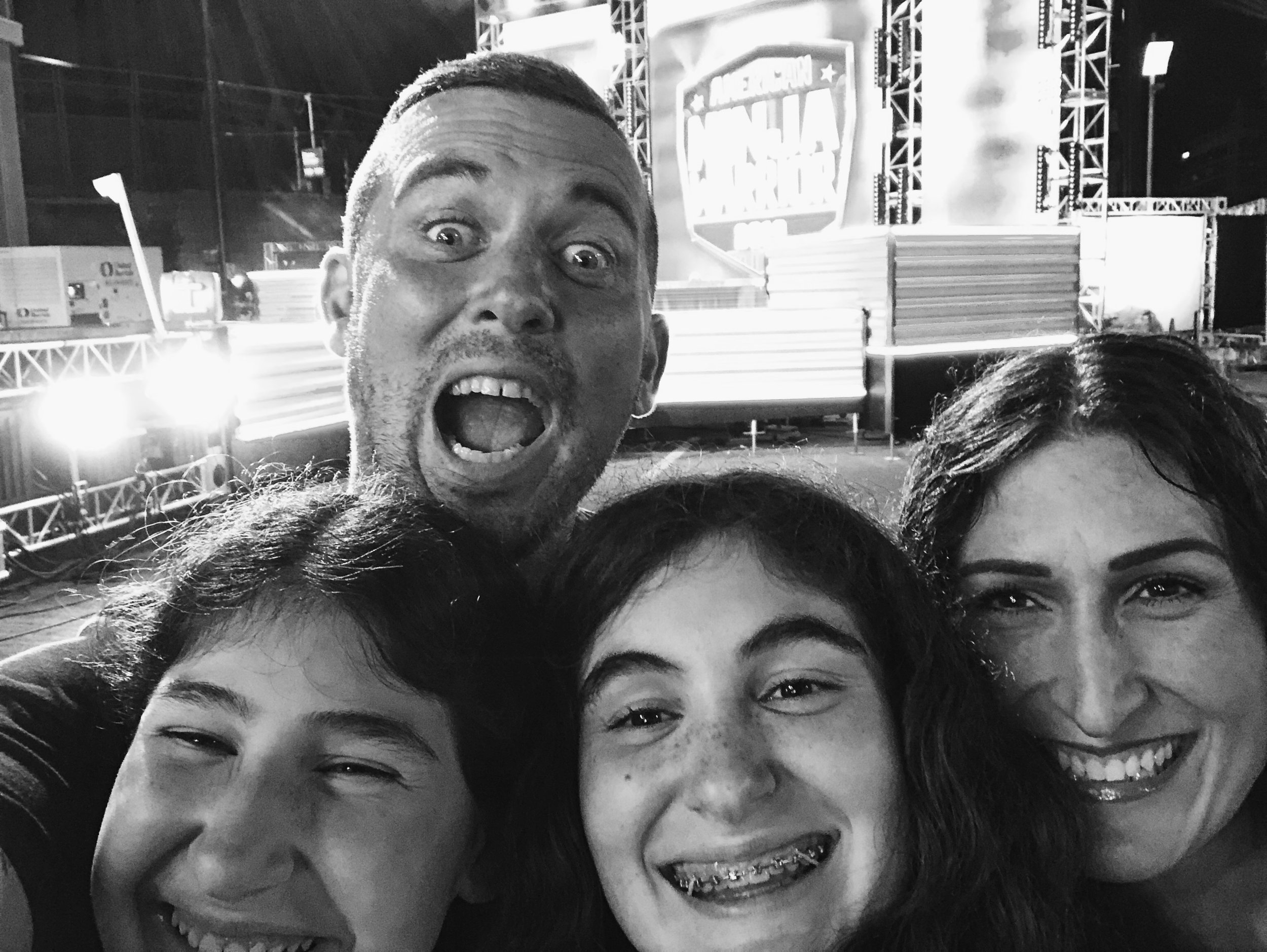 Making Moments with my family. 4am at the taping of American Ninja Warrior.
