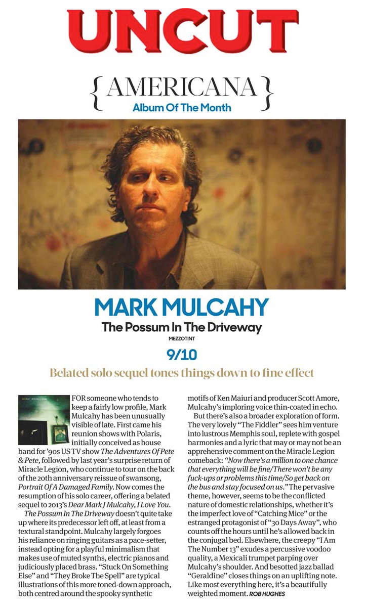 UNCUT Magazine (UK) Review - Americana album of the month - June 2017 issue