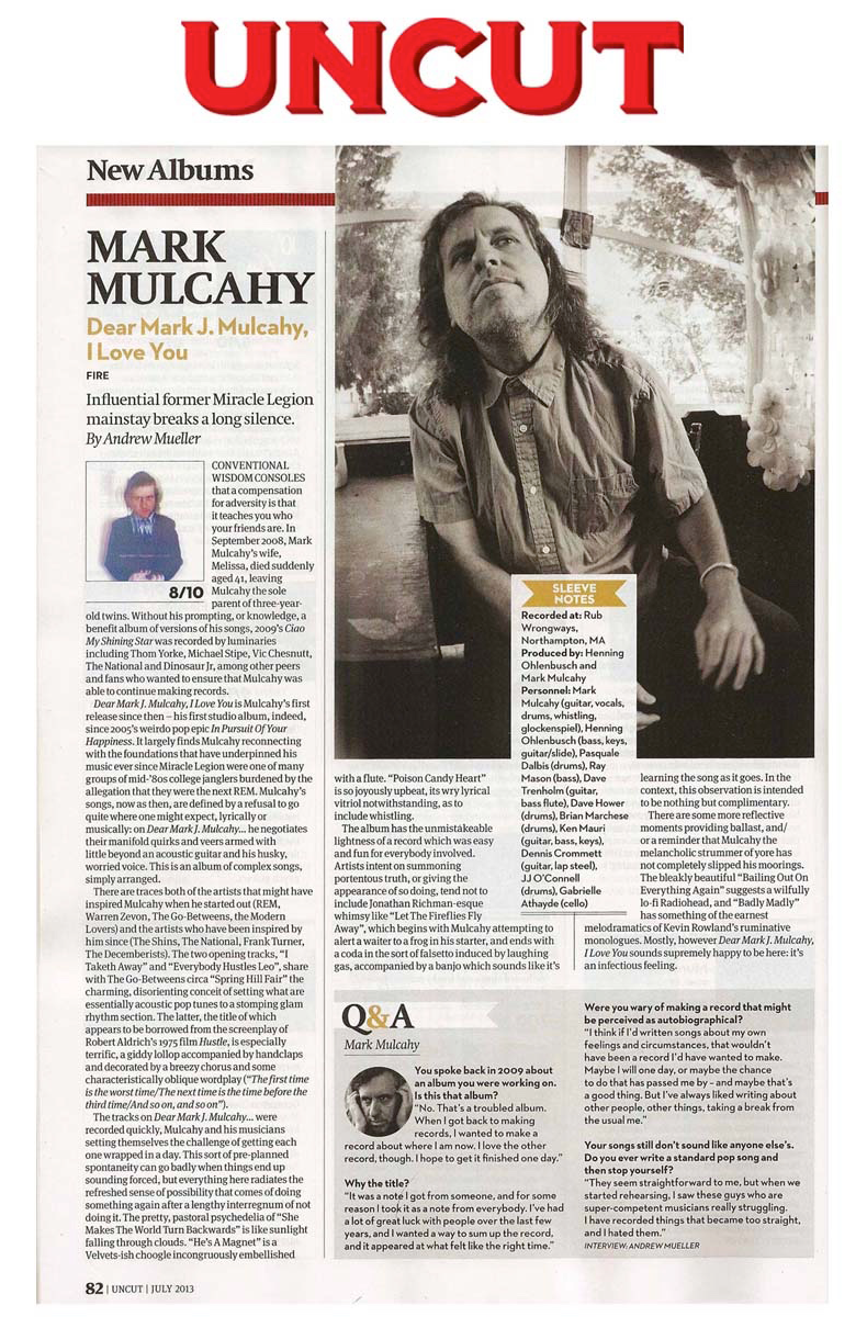 UNCUT Magazine (UK) Review - July 2013