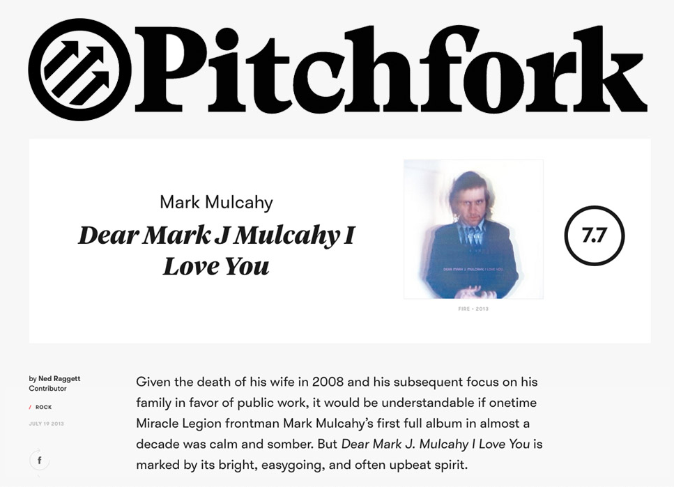 Pitchfork review, July 2013.    Read it here   .
