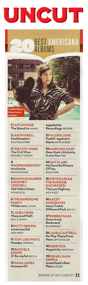 'Dear Mark J. Mulcahy, I Love You' makes the UNCUT Magazine (UK) 20 Best American albums of 2013