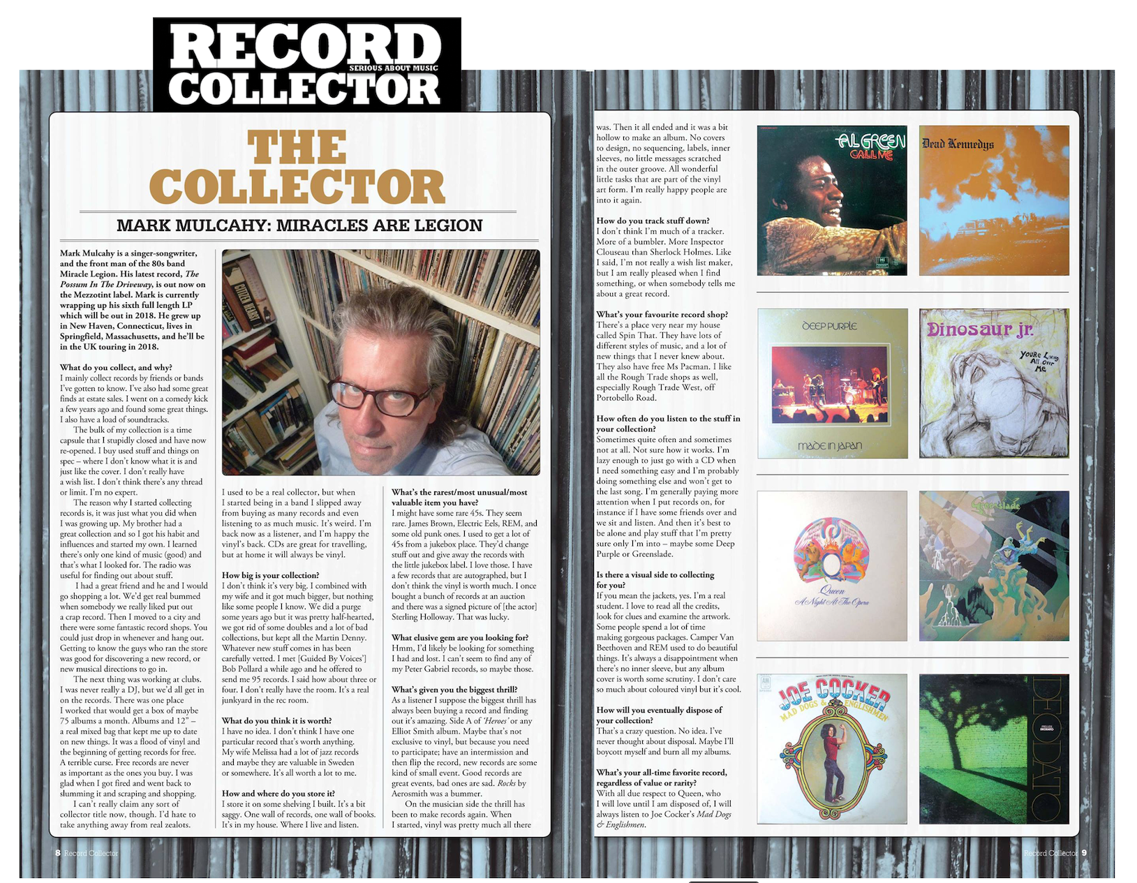 Record Collector Magazine (UK) Feature - December 2017 - page 1