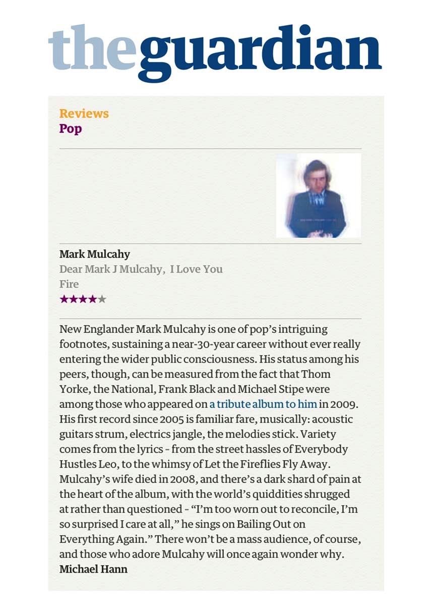 The Guardian (UK) Review - June 2013 - read online    here