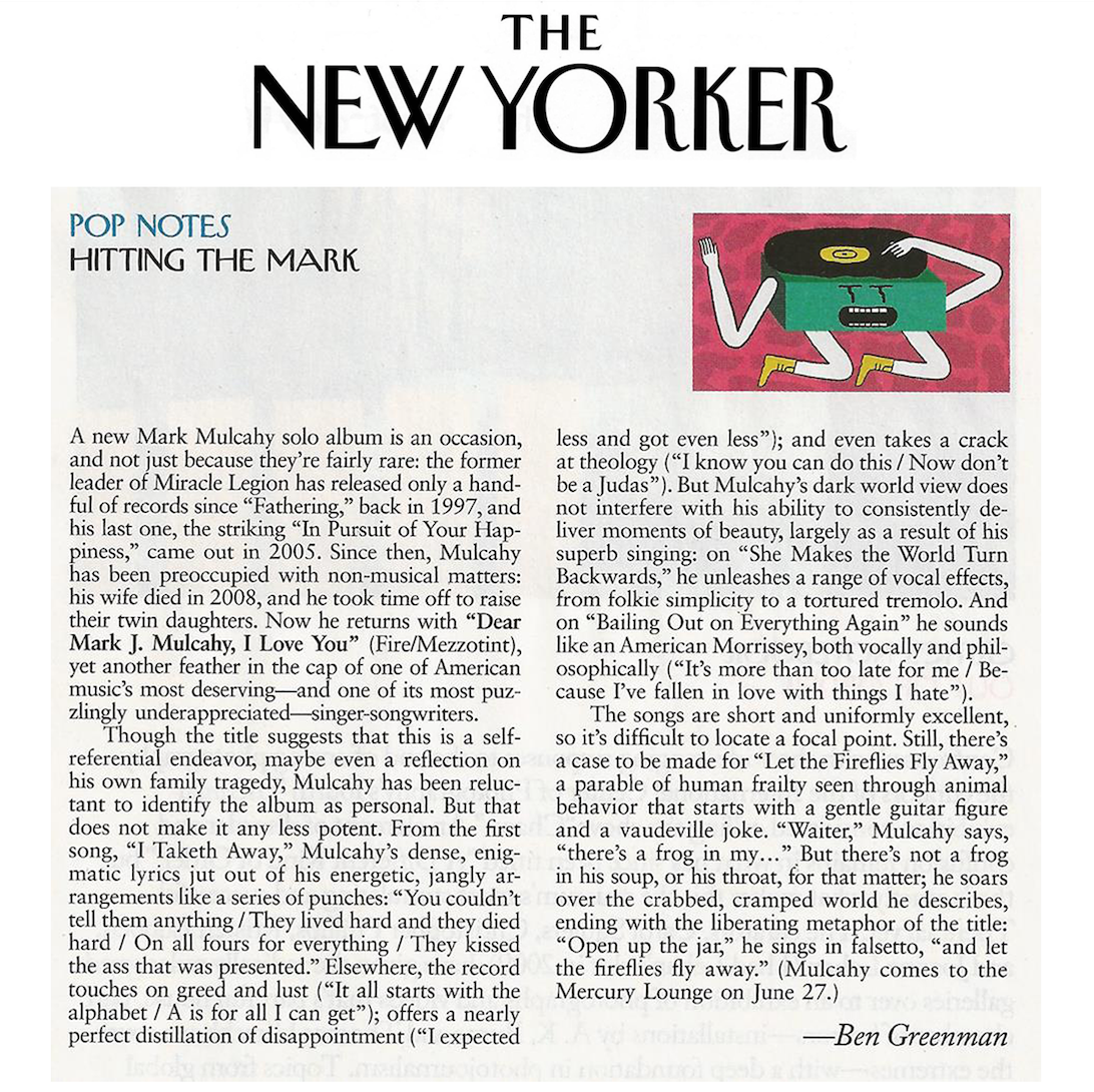 The New Yorker Feature - June 2013.    Read it here.
