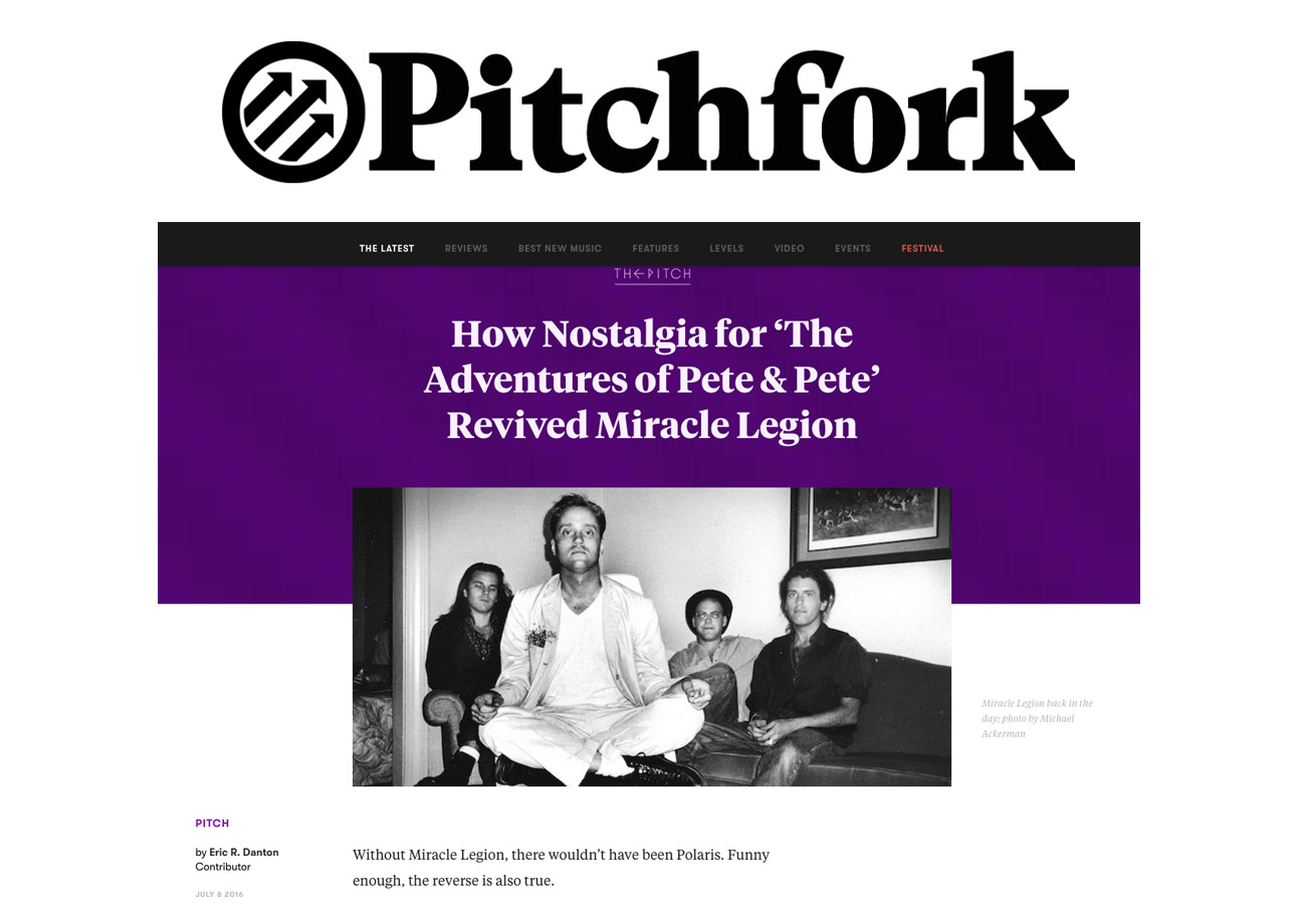 Pitchfork, July 2016. Read the article    here.