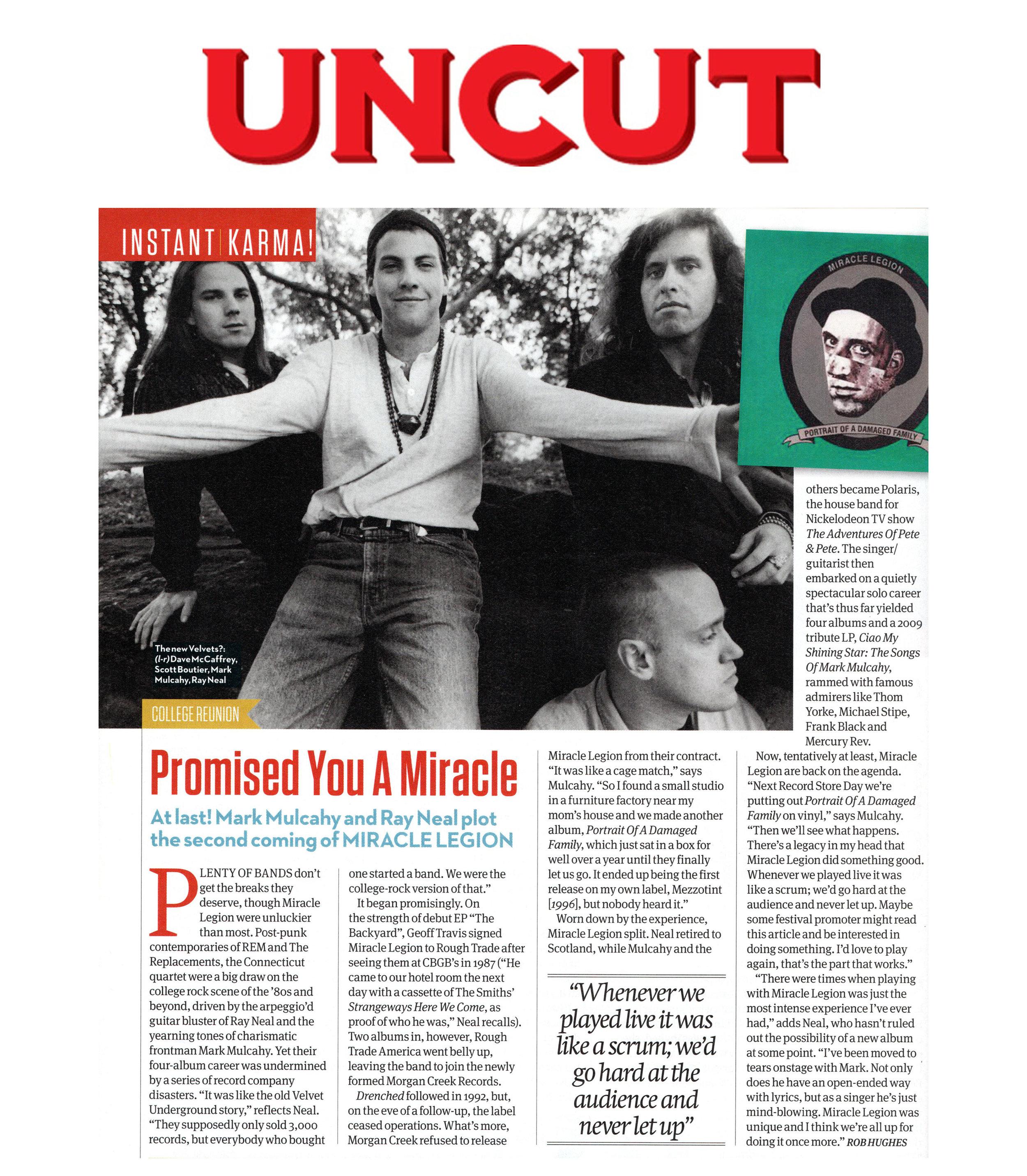 UNCUT Magazine (UK) Instant Karma! Feature - January 2016
