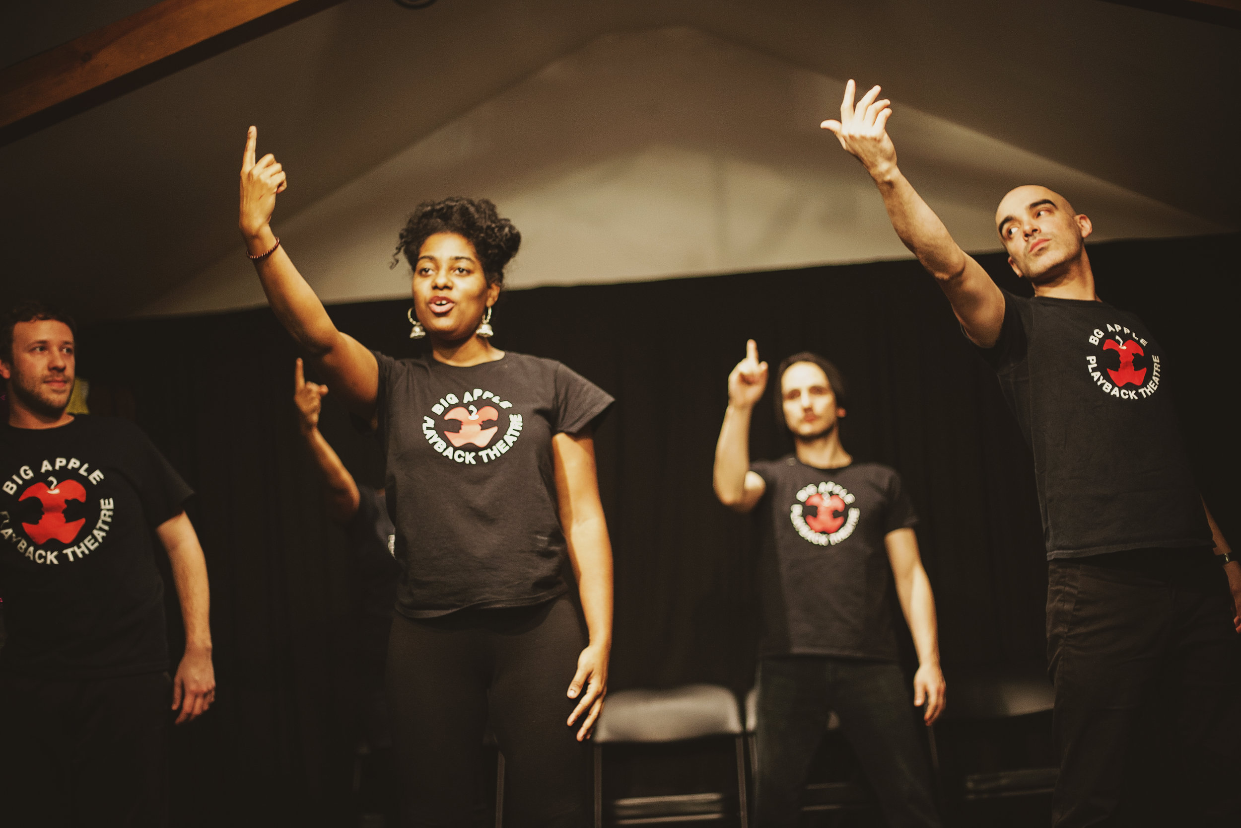 Big Apple Playback Theatre welcomes all communities to join us in sharing stories and working towards a world where all voices and experiences are heard, valued and respected.