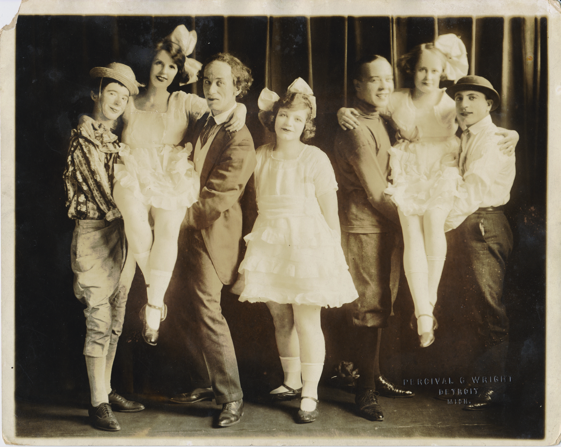 "Jules Held & Co. in ""Childhood Days, Detroit 1910 (Ted on far right)"