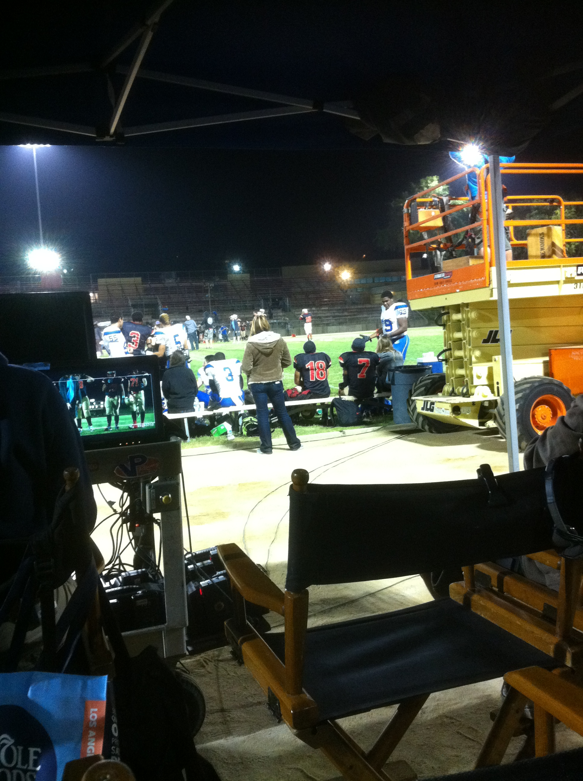The view from the set of Geography Club, the movie, in 2012.