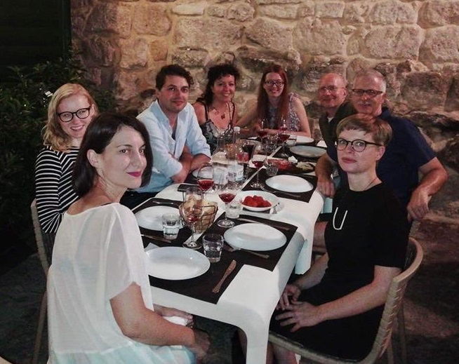 Dinner with friends in Matera, Italy.