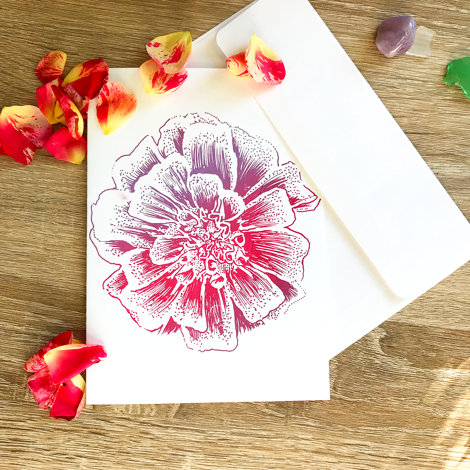 screenprinted greeting card