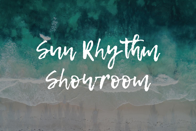 sun rhythm showroom branding
