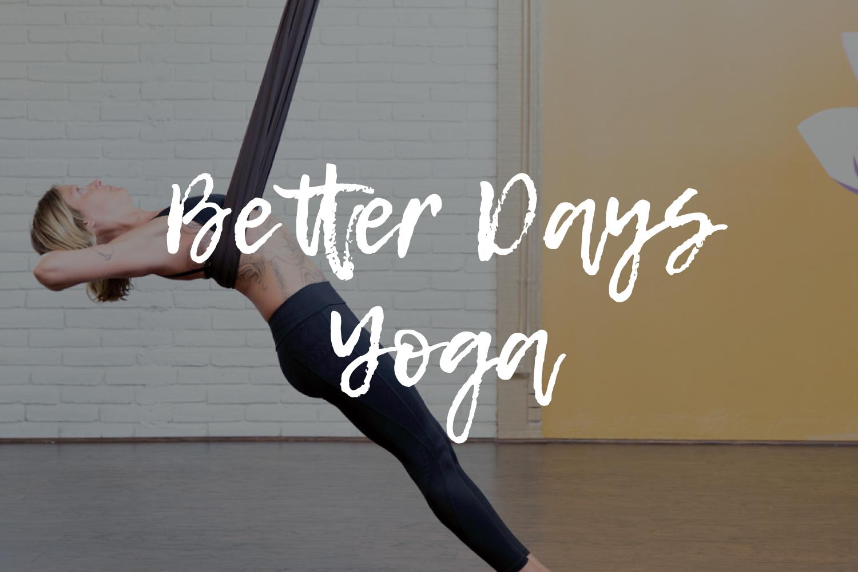 better days yoga branding