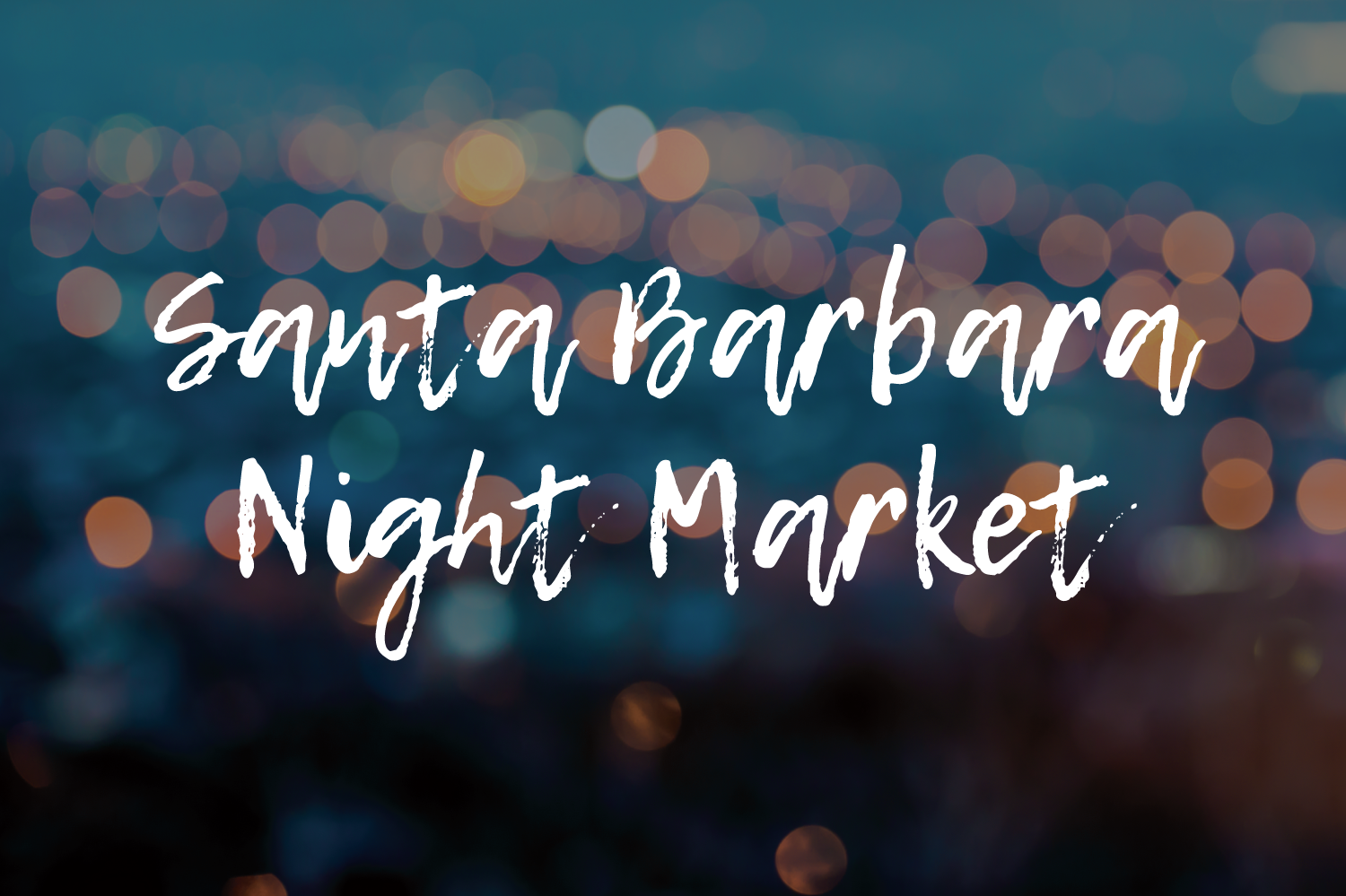 santa barbara night market print