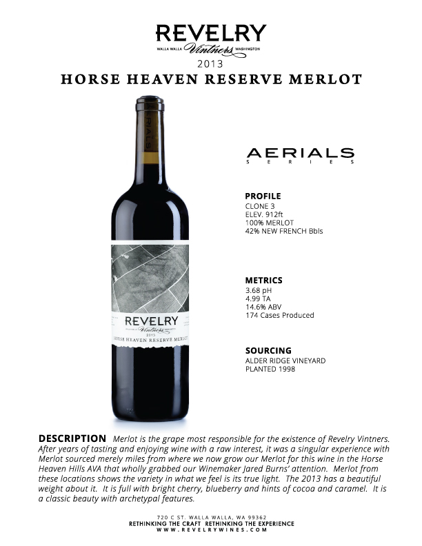 2013 HORSE HEAVEN RESERVE MERLOT