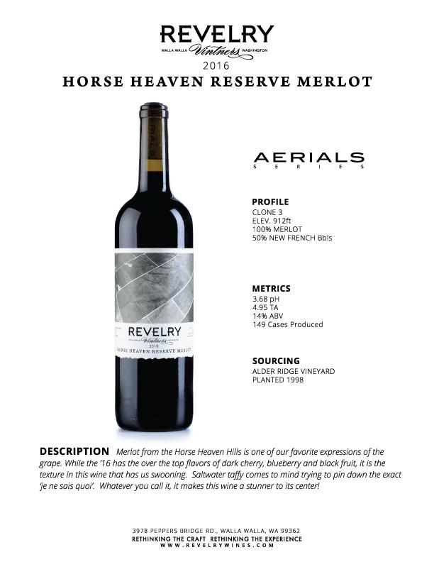 2016 HORSE HEAVEN RESERVE MERLOT