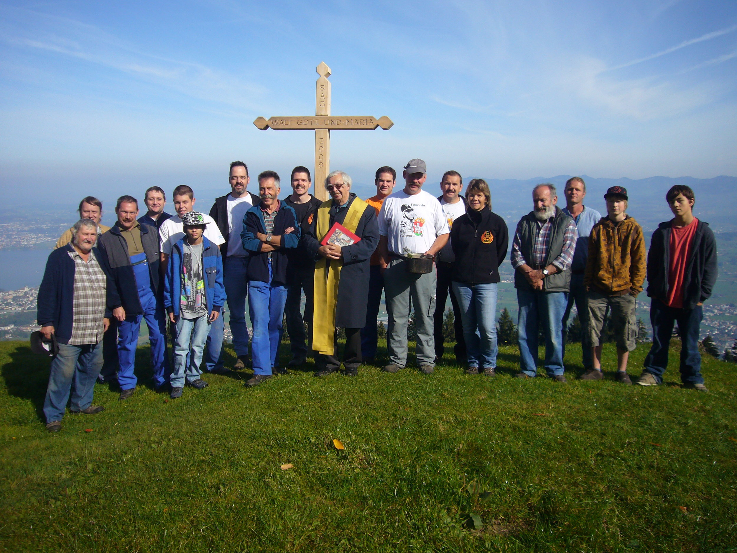 2009: Einsegnung des neuen Kreuzes