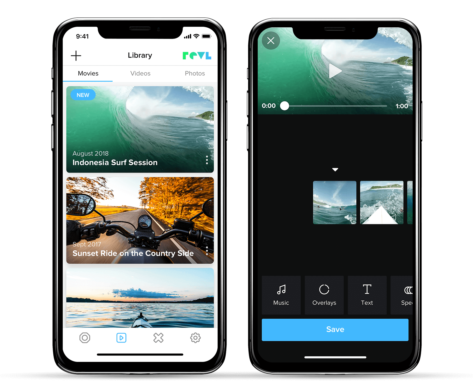 Edit Faster - Edit videos on the go with the Revl App. It makes transferring, downloading, editing, and sharing fast and easy.