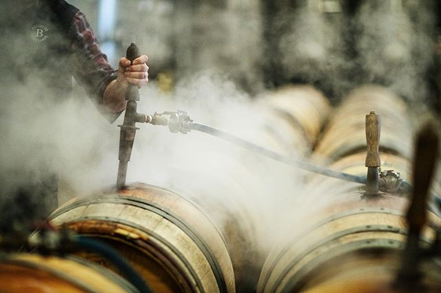 Wine Country facial anyone💨? Steaming barrels, getting ready to barrel down more red wine🍷. #WineCountryLife #SipSonoma #GatherInSonoma #EstateGrown