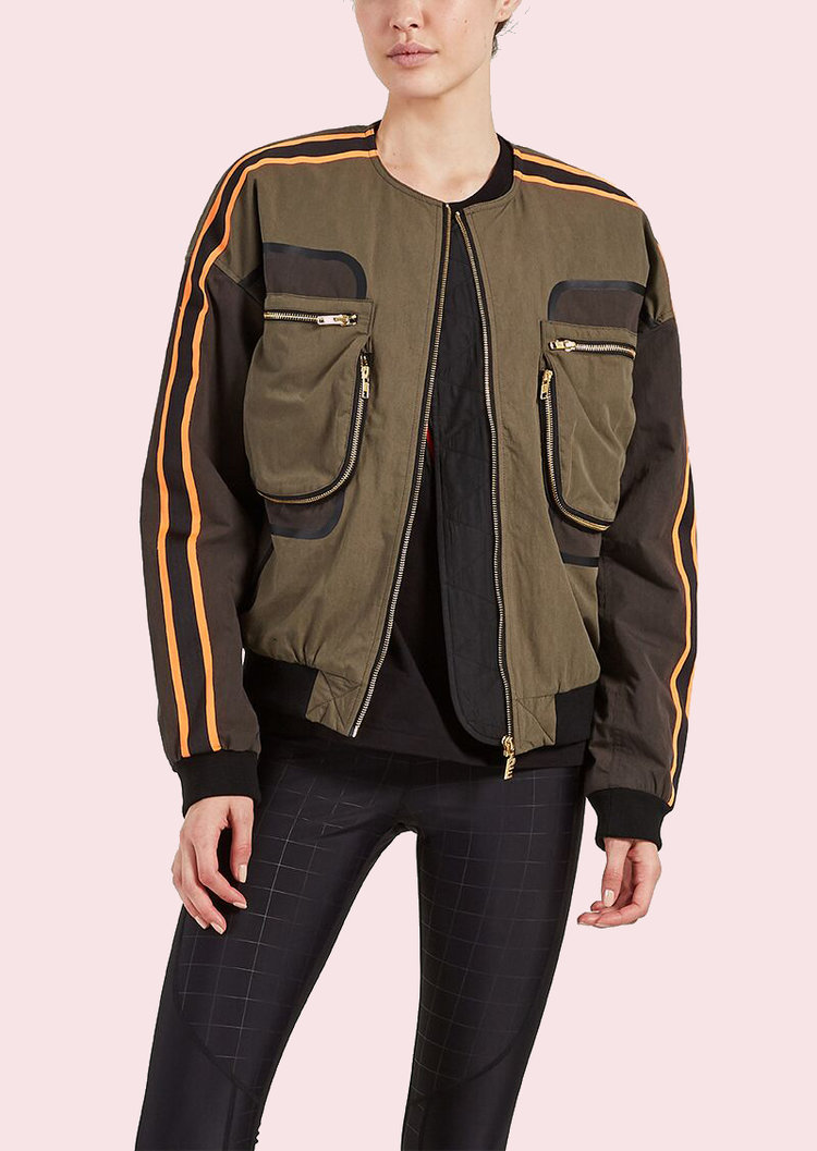 PE NATION - RECORD RUN JACKET - GOODBOY fave, PE Nation at it again with the Record Run Jacket. Complete with cargo pockets and gold branded hardware, this oversized bad boy is fully lined with polyester wadding for warmth and comfort.