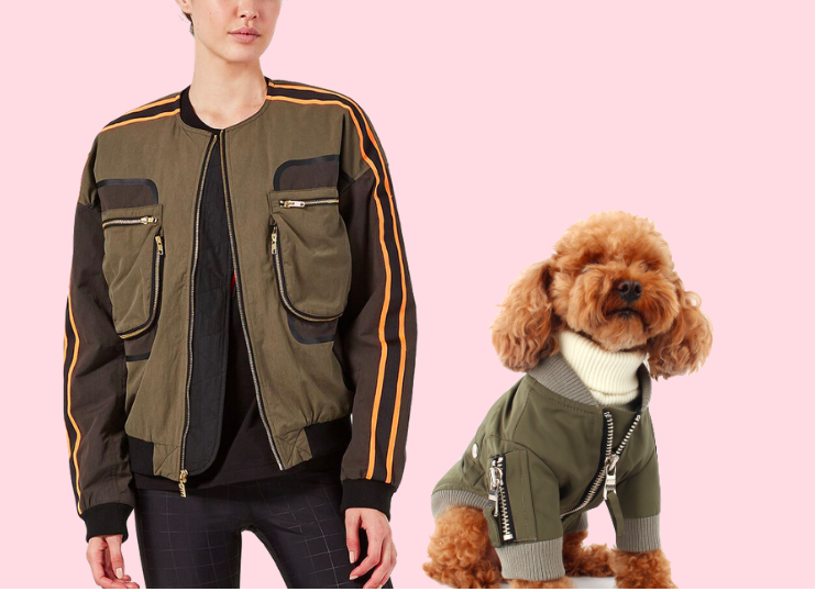 TOP GUN PILOTS - Pay homage to our favourite 80s heartthrob, Tom Cruise with this Top Gun inspired costume duo. You and your pup could be rocking the Danger Zone in chic matching bombers! You'll look incredible in the PE NATION RECORD RUN JACKET while your bff rocks the BARKER PILOT JUMPER . Just throw on a white tee, slap on some aviators, tie a bandana around your pup and you two are ready to soar!