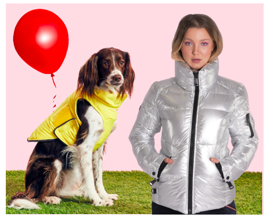 """It (2017) - Halloween is the perfect opportunity to bring scary and style into one perfect costume. Very few scary films have had the same kind of lasting effect as """"It"""". Get freaky without getting frozen in the SILVER SAM. FREESTYLE BOMBER. Don't forget the iconic yellow raincoat for your pup - we recommend the CHARLIE'S BACKYARD TURTLE PADDING and a red balloon of course! Top off your look with a clown nose and you'll have the creepiest couple's costume of the night!"""