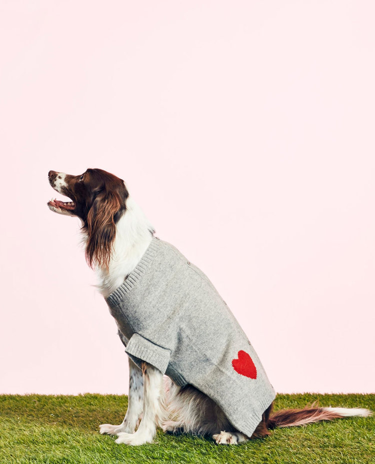 WARE OF THE DOG - HEART CARDIGAN