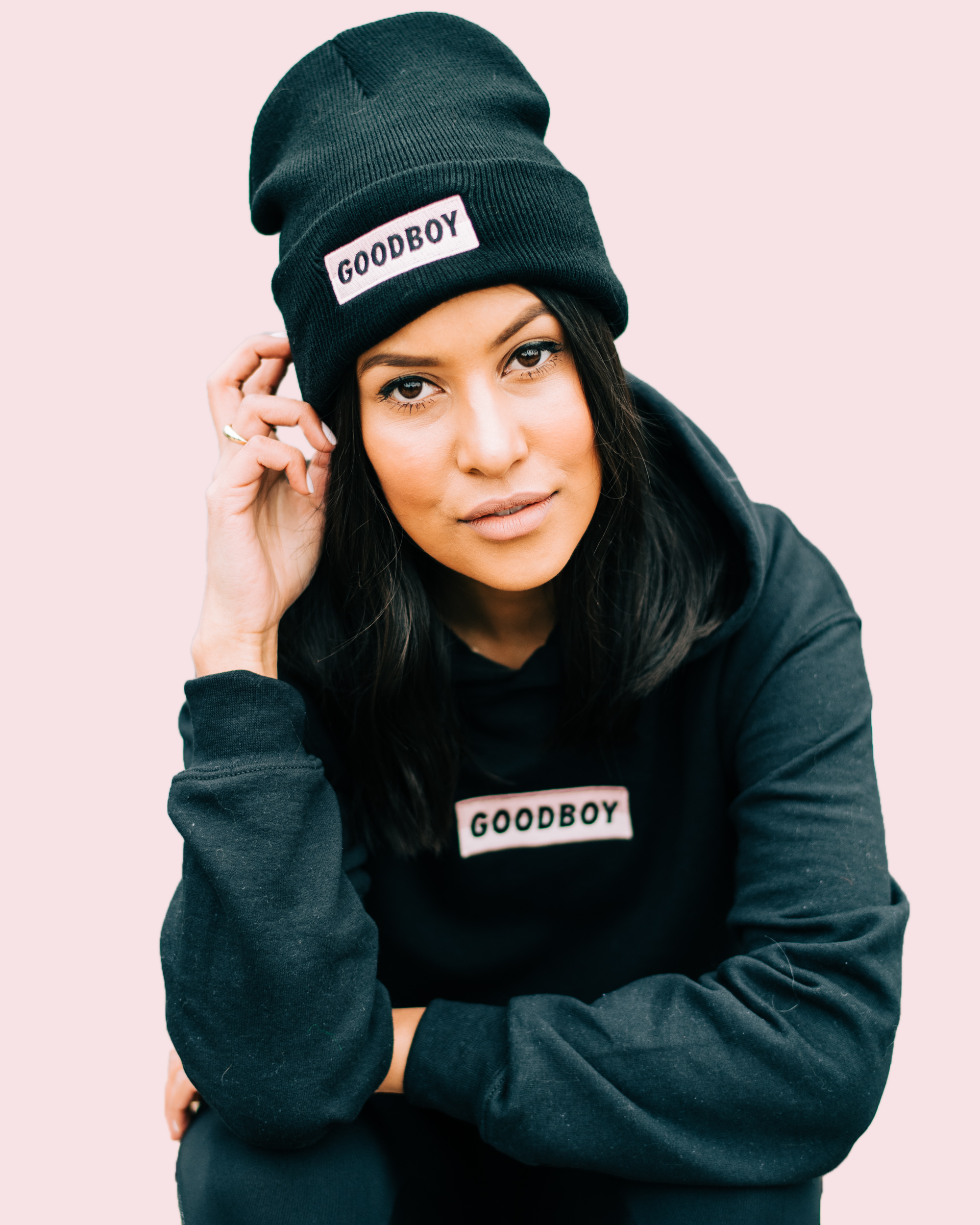 FOR THE MONOCHROME MAVEN - Keep it casual in the OG Toque and OG Hoodie - now available in Black!