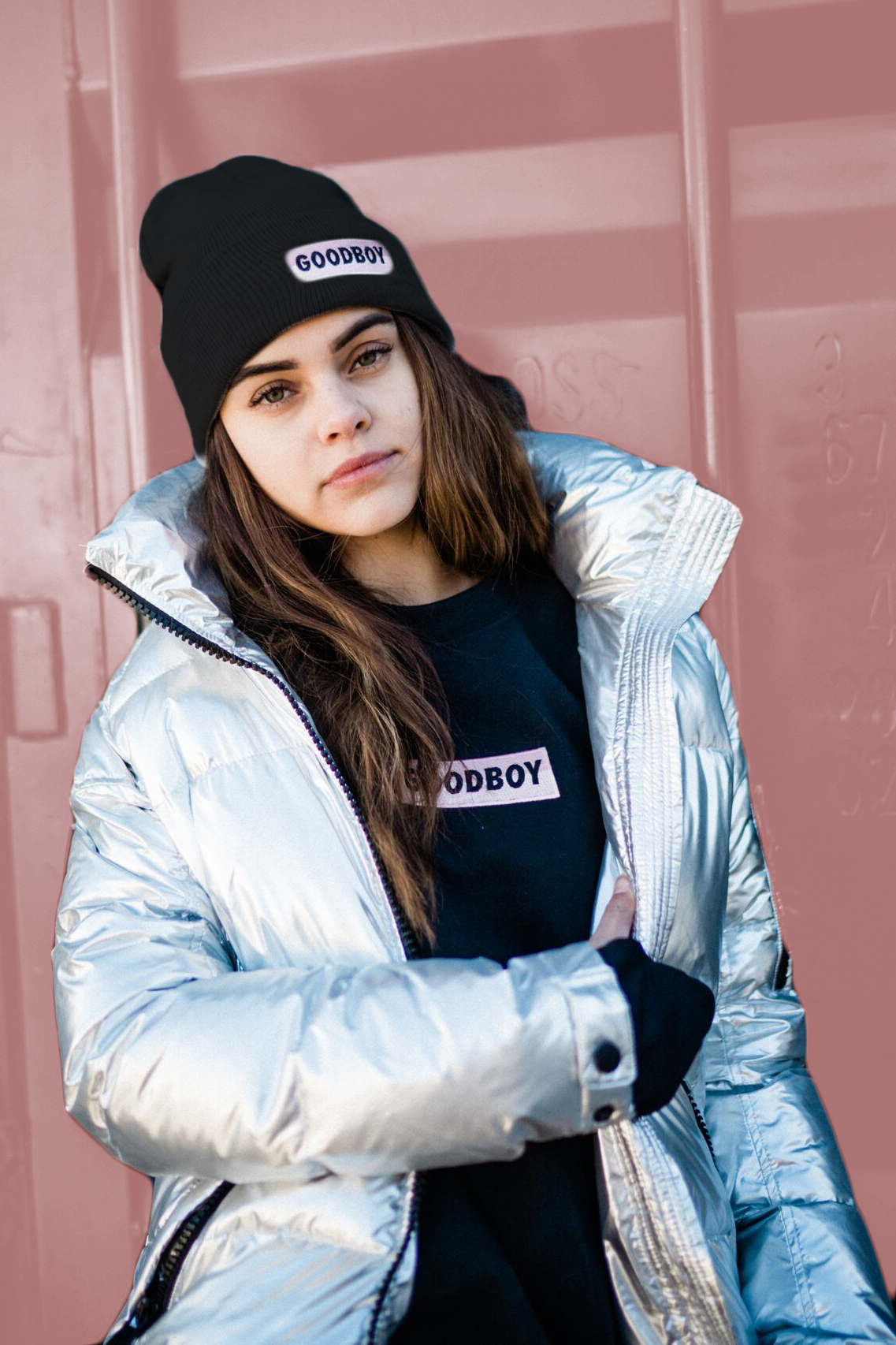 LAYER UP! - Stack 'em all up to look cool and stay warm this season! @reinangelica rocks our new OG Toque and OG Hoodie and the SAM. Freestyle Bomber in Silver (other colours available).