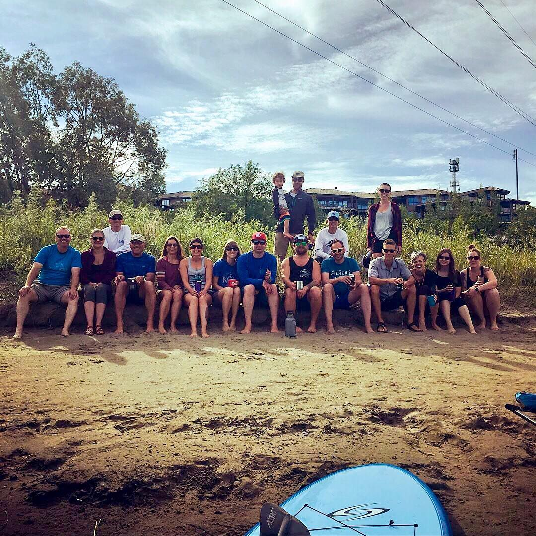 Escape's Friday SUP crew